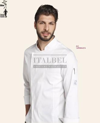 Bluza kucharska Davide, Biały 00 - 14P08G474 - 5 / 16