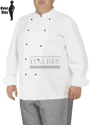 Bluza kucharska Doriano ' Kolor biały ' Obwód bluzy w klatce piersiowej i w pasie w cm: I-150   II-160  III-170 ' 1594 - 65
