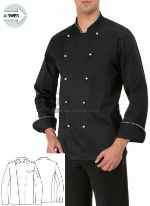 Bluza kucharska Ivano ' Kolor czarny ' 15P08G643 - 17 / 204