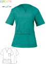 Bluza kucharska Margherita ' Kolor zielony ' 10M2062C - IB / 951