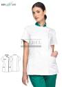 Tunika kucharska Simon ' Kolor biały / zielony ' 11P03K37 - IB / 590