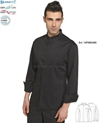 Bluza kucharska Coreana Sergio 14P08G465 - Czarny 000 - 7 / 16
