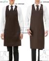 1. Fartuch kelnerski damski Isabel 15P01H609 2. Fartuch kelnerski unisex 15P01H608 - Brązowy 962 - 709