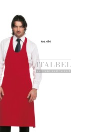 Fartuch kelnerski Ferrara kolor czerwony - 424 - 13 / 404