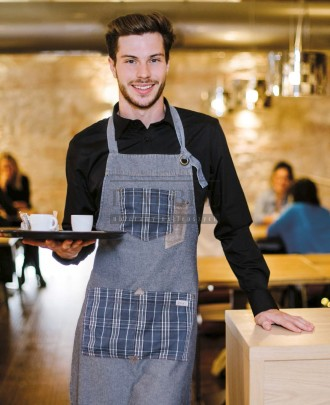 Foto - Fartuch kelnerski Bristol, kolor błękitny jeans J118 - 18P01H011 - 130