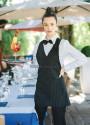 Fartuch kelnerski Giulietta ' Kolor czarny ' 14P01H430 - 19 / 302