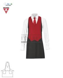 Fartuch kelnerski unisex Gianni ' Kolor czarno-czerwony ' 15P01H618 - 16 / 401
