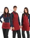 1. Zapaska kelnerska Charlie 10M2056 2. Fartuch kelnerski Scotland 10M2055 3. Fartuch kelnerski London 10M2057- Bordowy 006 - 16