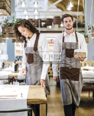 Foto - Fartuchy kelnerskie Luna i Bristol, kolor brązowy Q322 - 18P01H003 18P01H005 - 162