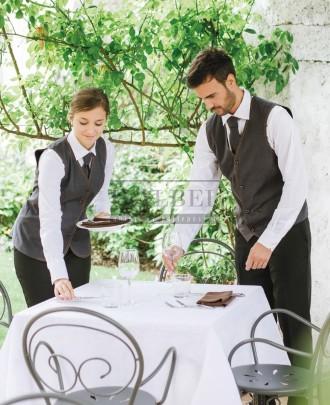 Foto ' Kamizelki kelnerskie Cherie i Miguel, kolor szary ciemny 077 - 18P01E420 18P01E421 - 191