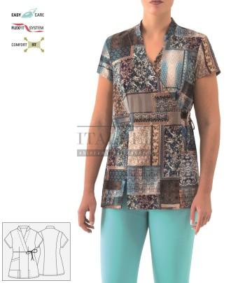 Kimono kosmetyczne Paola ' Kolor Wzory etniczne F016 ' 17P02K933 - 20