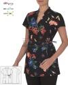 Kimono kosmetyczne Paola ' Kolor kwiaty ' Roz. XS-XXL ' 18P02K933 - 90