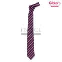Krawat męski ' Kolor bordowy w paski ' 19P05I141 - 23