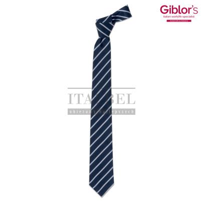 Krawat męski ' Kolor granatowy w paski ' 19P05I141 - 25