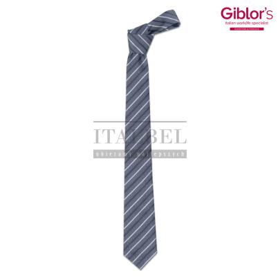 Krawat męski ' Kolor szary w paski ' 19P05I141 - 22
