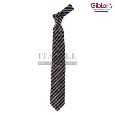 Krawat męski ' Kolor żółty w paski ' 19P05I141 - 24