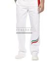 Spodnie Alan ' Kolor biały + fala Tricolore ' 12P11P151 - 18 / 301