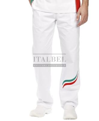 Spodnie Alan ' Kolor biały + fala Tricolore ' Roz. S-3XL ' 12P11P151 - 18 / 95