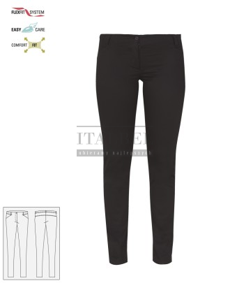 Spodnie kosmetyczne Layla ' Kolor czarny ' Roz. XS-XXL ' 18P02P903 - 35