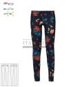 Spodnie kosmetyczne Layla ' Kolor kwiaty ' Roz. XS-3XL ' 18P02P935 - 30