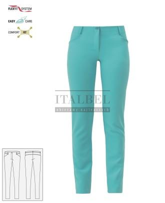 Spodnie kosmetyczne Layla ' Kolor szmaragdowy ' Roz. XS-XXL ' 17P01P903 - 12 /