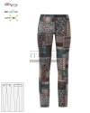 Spodnie kosmetyczne Layla - Kolor wzory etniczne ' Roz. XS-XXL ' 17P02P935 - 31