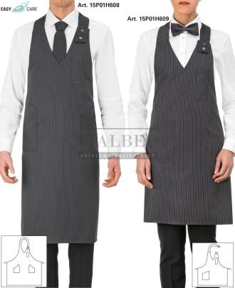 1. Fartuch kelnerski unisex 15P01H608 2. Fartuch kelnerski damski Isabel 15P01H609 - Szary 960 - 706
