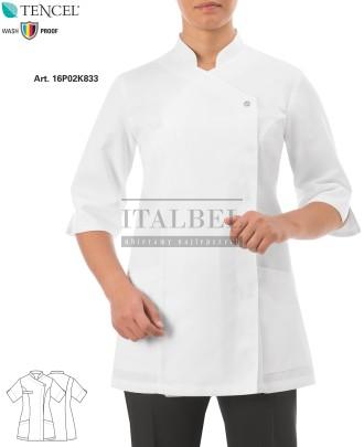 Tunika kosmetyczna Mirka biała ' Kolor biały ' Roz. XS-3XL ' 16P02K833 - 101