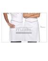 Zapaska kucharska 12P08H253 - Biały/czarny 0/NER - 16 / 550